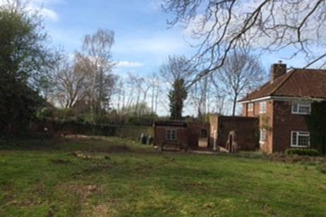 Tree clearance at a house in Gloucester after the trees were removed